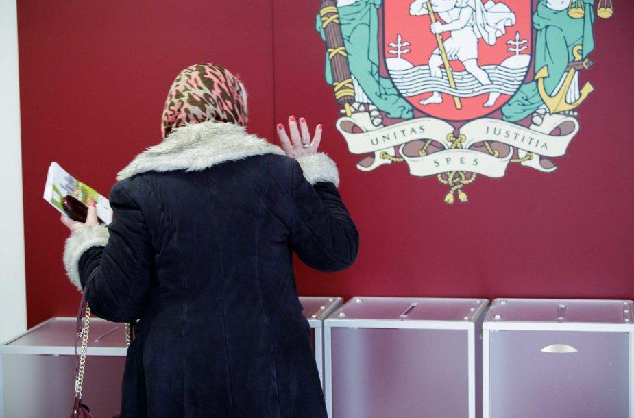 Vilniaus miesto savivaldybėje vykstantis iš ankstinis balsavimas