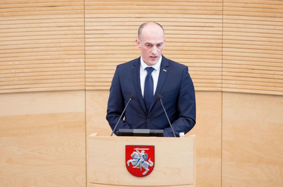 Kandidatas į STT vadovus Žydrūnas Bartkus prisistato Seimui
