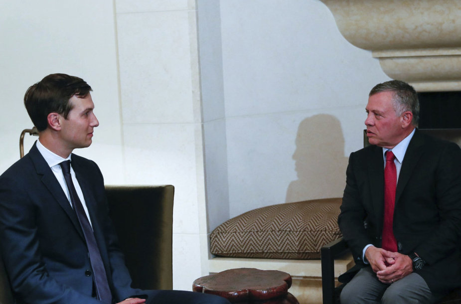 Jaredas Kushneris ir Jordanijos karalius Abdullah II