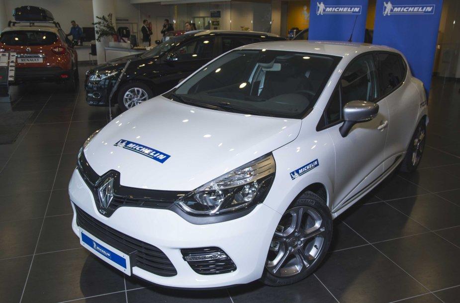 """Loterijos nugalėtojo """"Renault Clio GT"""""""