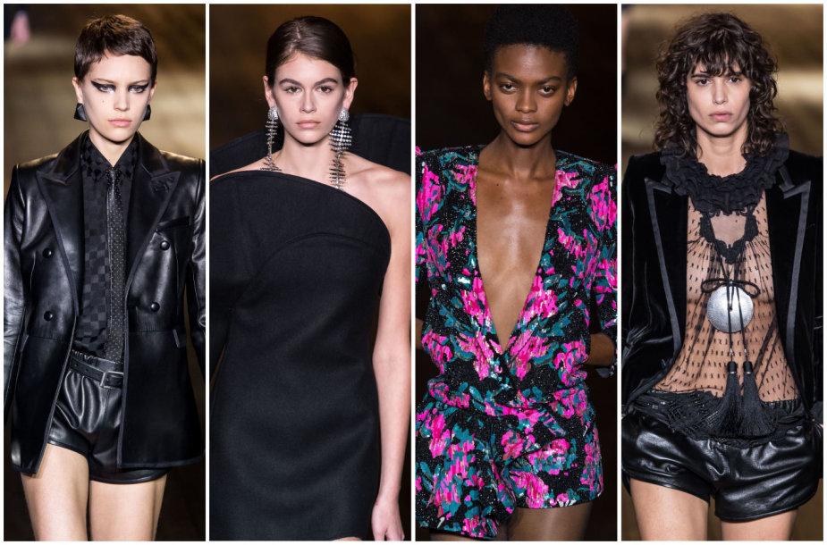 """""""Saint Laurent"""" 2018–2019 m. rudens ir žiemos kolekcijos modeliai"""