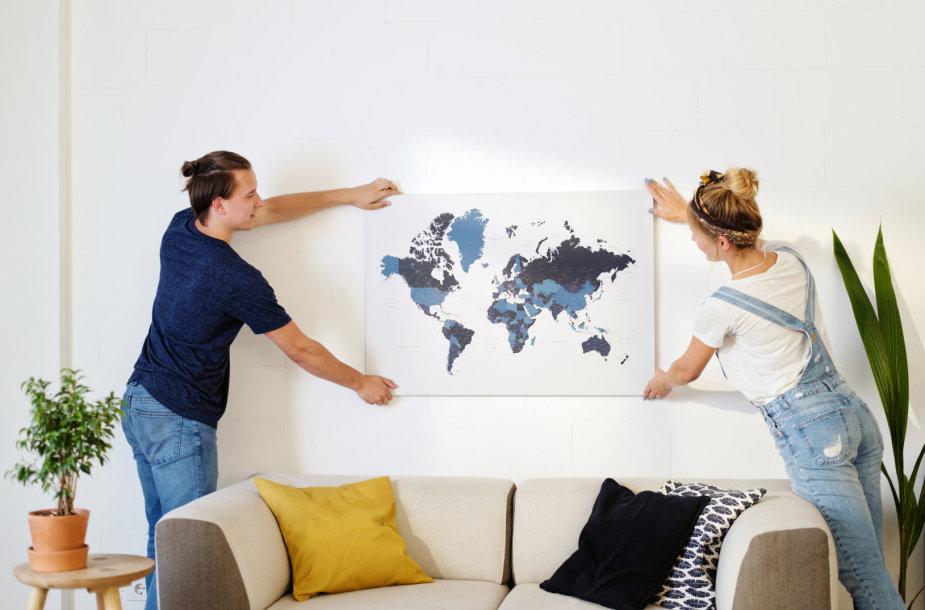 """""""Trip Map"""" žemėlapis"""