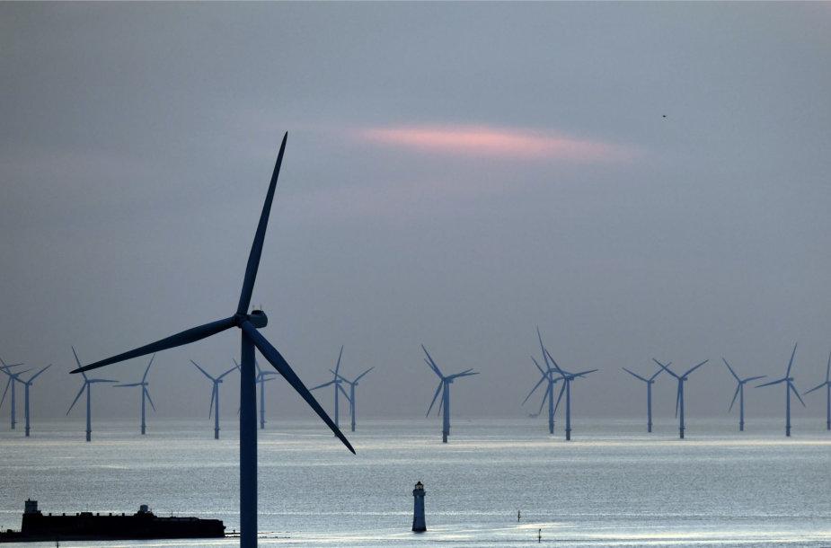 Jungtinė Karalystė pagal vėjo jėgainių generuojamą energiją pirmauja pasaulyje