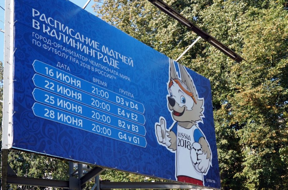 Kaliningradas rengiasi Pasaulio futbolo čempionatui.