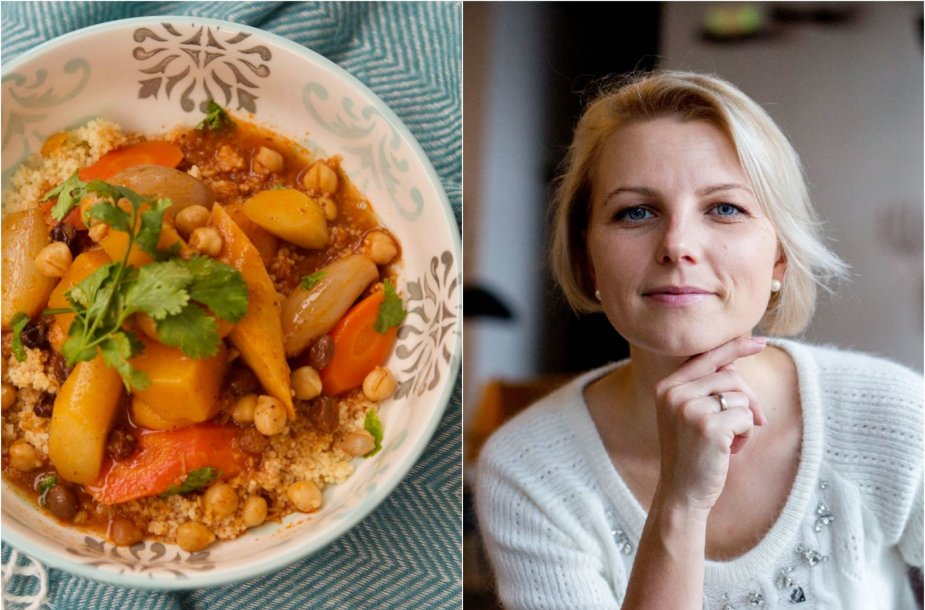 Dangira Šimašiutė ir jos gamintas daržovių kuskusas
