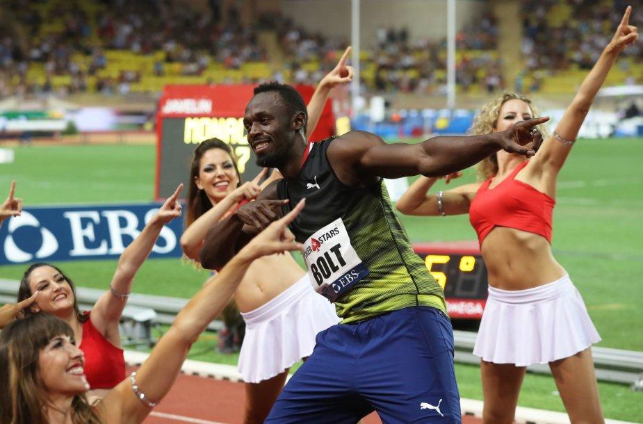 Usainas Boltas buvo greitas Monake