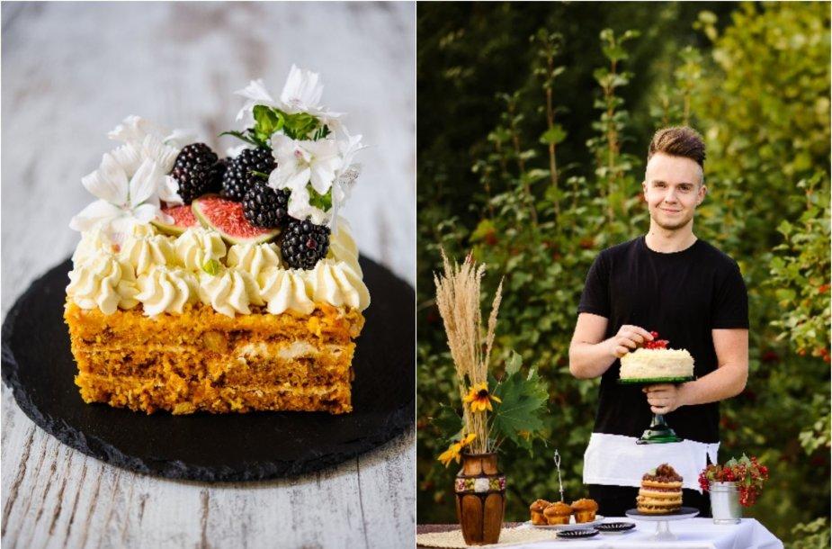 Paulius Strasevičius ir jo keptas morkų tortas