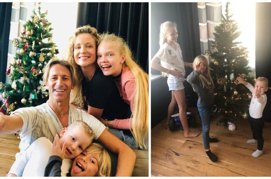 Edita Daniūtė su Mirko Gozzoli ir vaikais