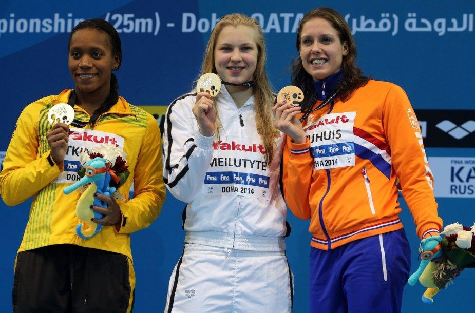 Alia Atkinson, Rūta Meilutytė ir Moniek Nijhuis