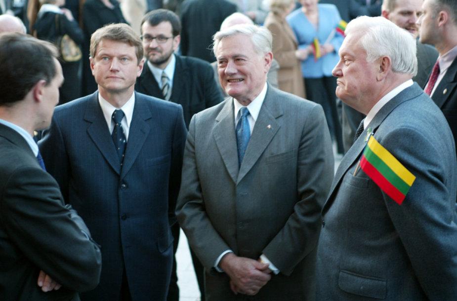 Rolandas Paksas, Valdas Adamkus ir Algirdas Brazauskas