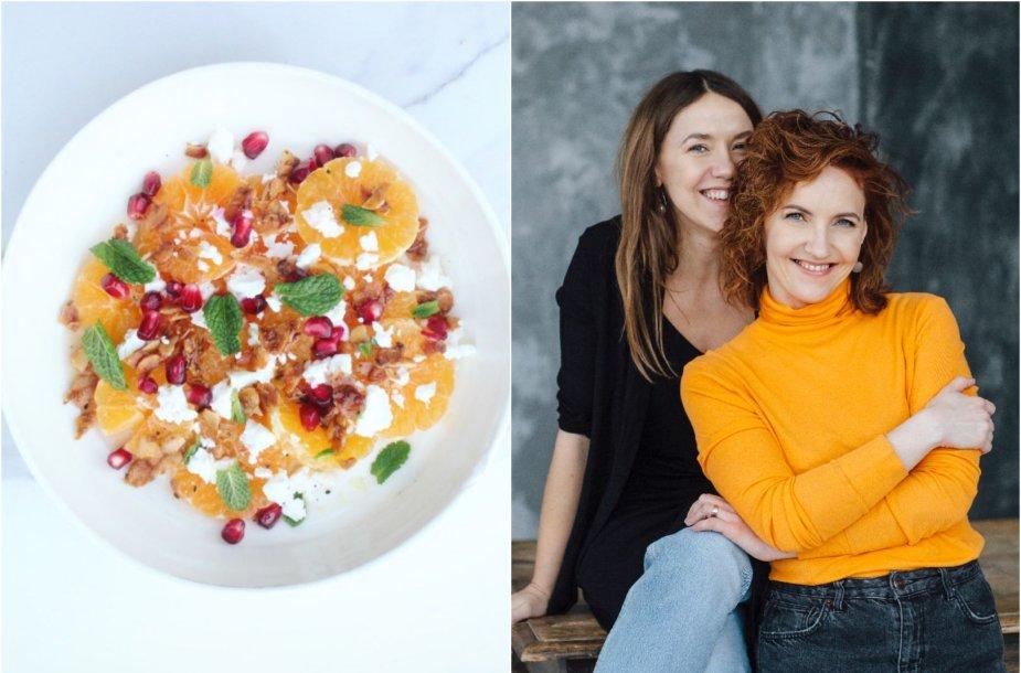 Tinklaraštininkės Rūta ir Asta bei jų ruoštos salotos