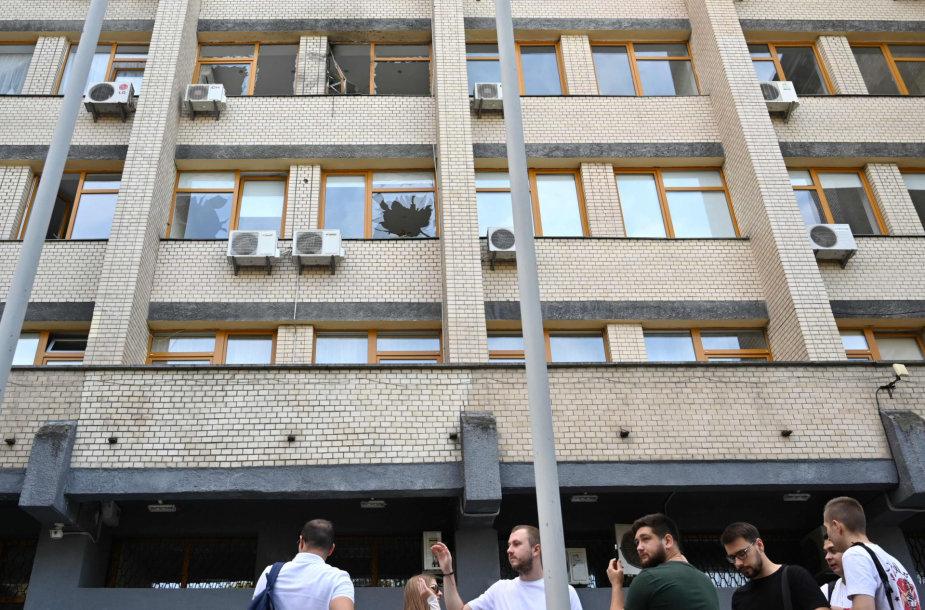 Kijevo biurų pastate sprogo granata