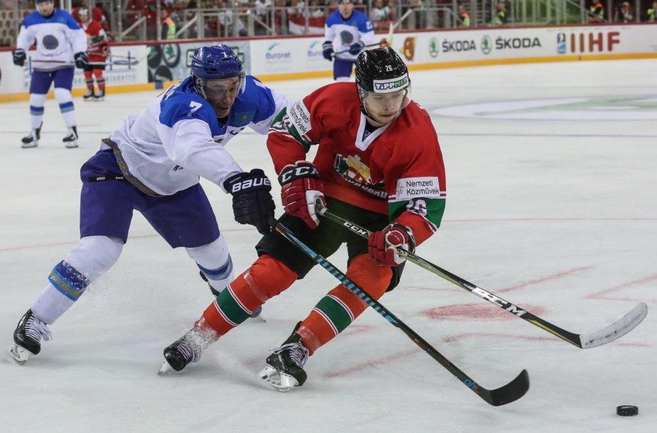 Vengrijos ir Kazachstano ledo ritulininkai