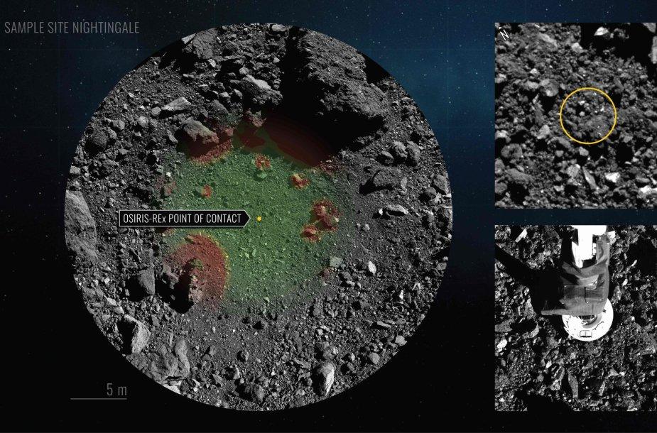 """Zondo """"Osiris-Rex"""" paėmė asteroido dulkių mėginį"""