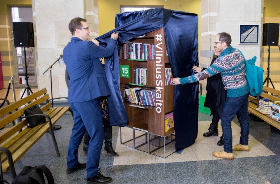 Geležinkelio stotyje buvo atidaryta visą parą veikianti skaitykla