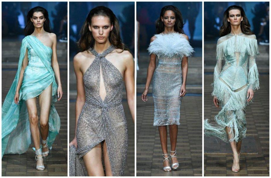 """""""Julien Macdonald"""" 2020 m. pavasario ir vasaros kolekcijos modeliai"""