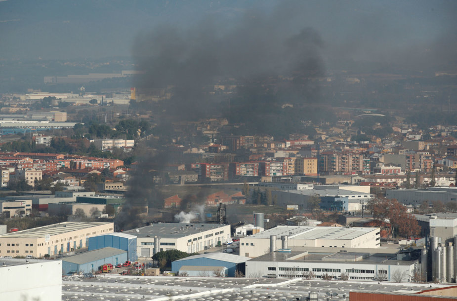 Gaisras gamykloje Ispanijoje