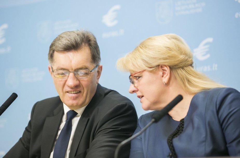 Algirdas Butkevičius ir Algimanta Pabedinskienė