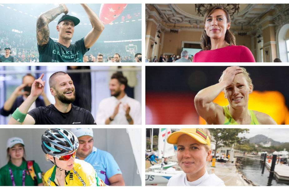 R.Javtokas, D.Karalienė, K.Navickas, G.Scheidt, A.Trebaitė ir A.Skujytė šiemet baigė ilgą ir garbingą sportinį kelią.