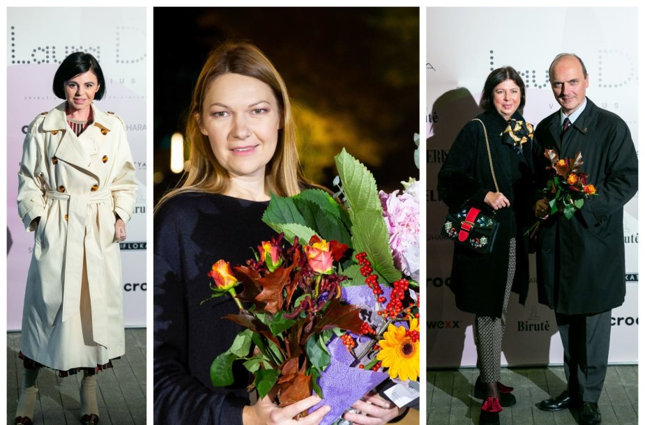 Reda Mickevičiūtė, Laura Dailidėnienė ir Giedrius Drukteinis su žmona