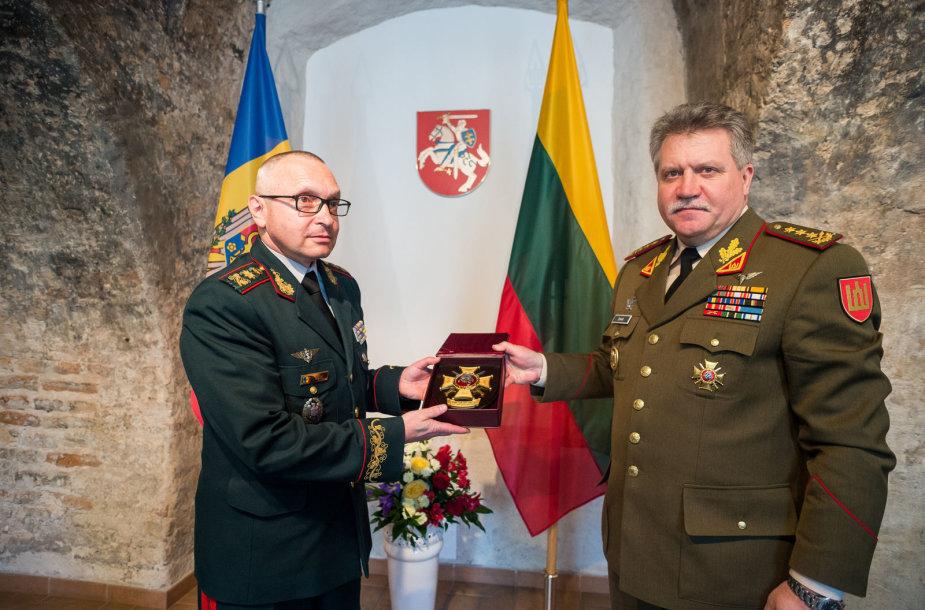 Lietuvoje lankosi Moldovos kariuomenės vadas brigados generolas Igor Cutie