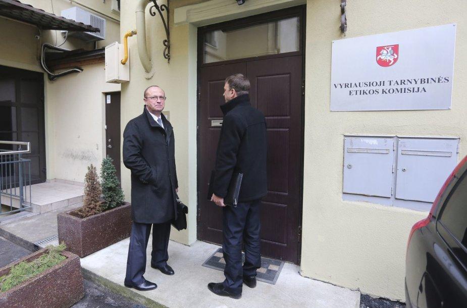 Ričardas Malinauskas atvyko į (VTEK) posėdį