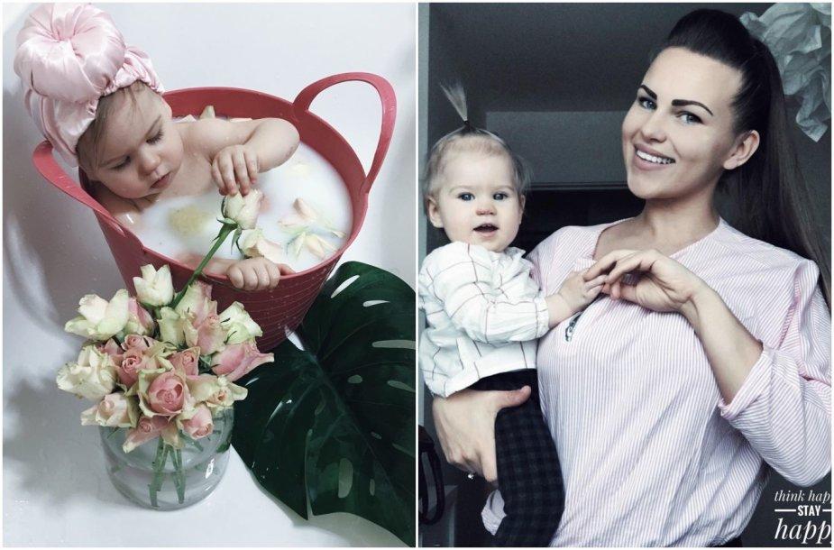 Augustė Piačiukonė su dukra