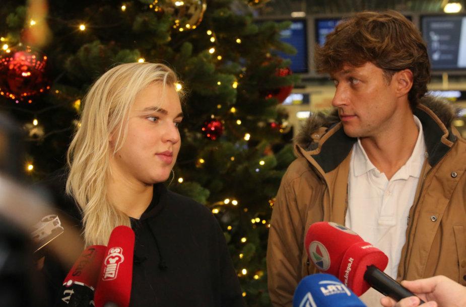 Rūta Meilutytė ir Paulius Andrijauskas
