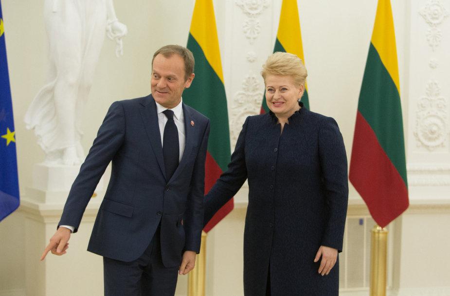 Donaldas Tuskas ir Dalia Grybauskaitė