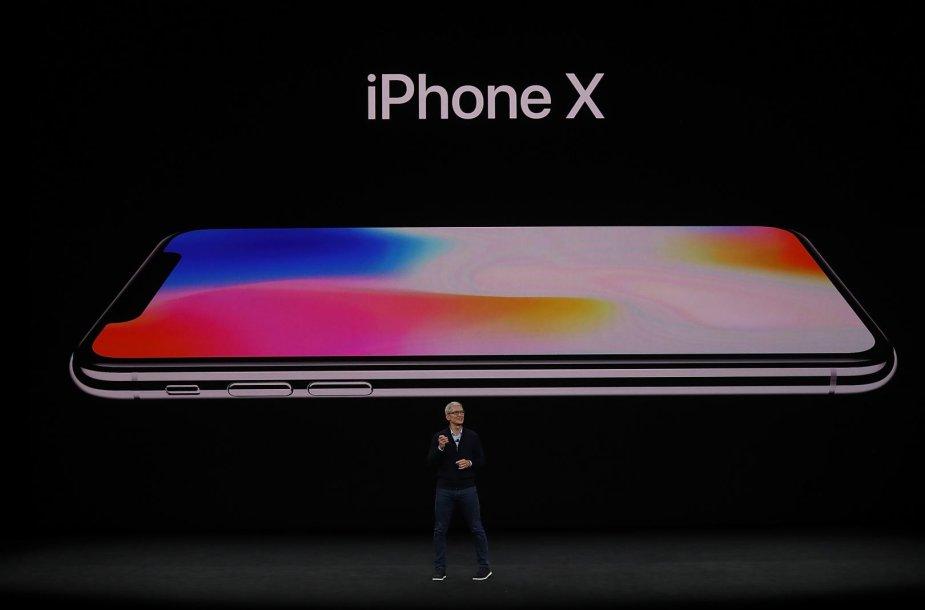 """iPhone X"" pristatymas"