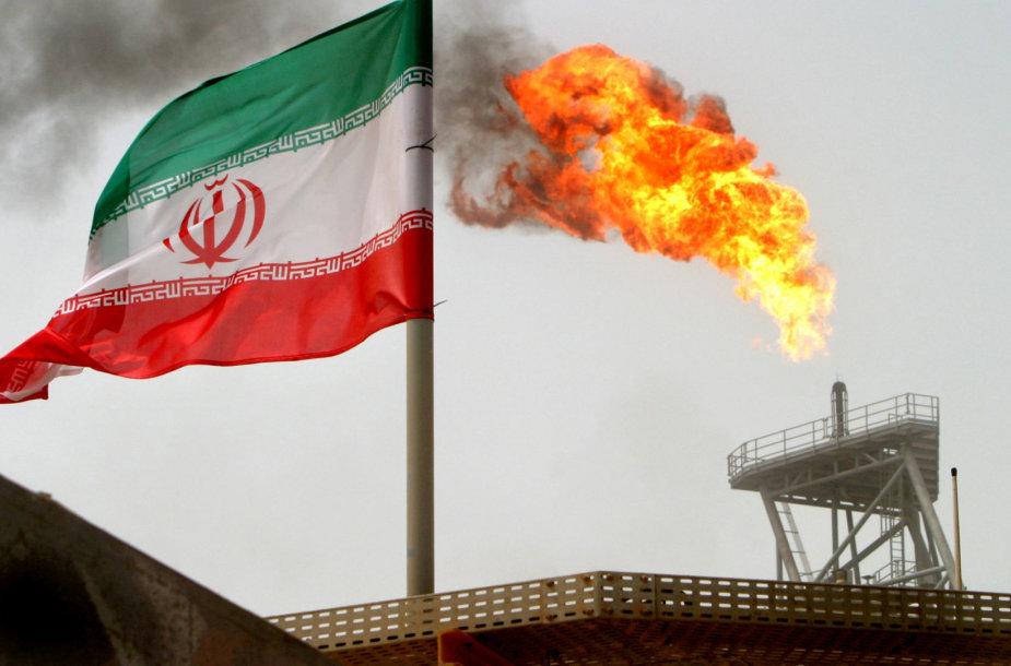 Irano vėliava naftos įmonėje