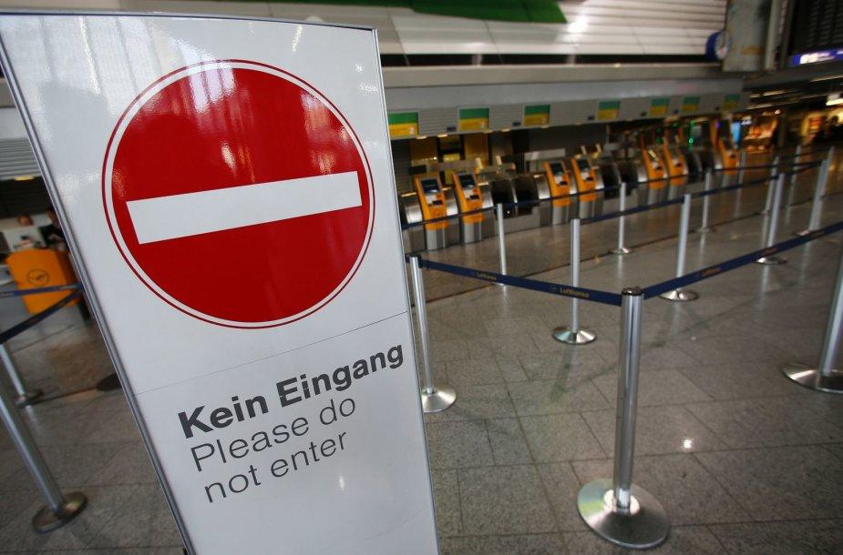 Vokietijoje dėl streiko atšaukti šimtai skrydžių