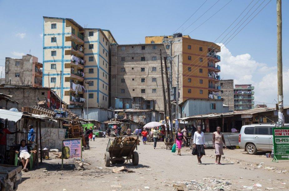 Huruma lūšnyno Nairobyje gyventojų kasdienybė