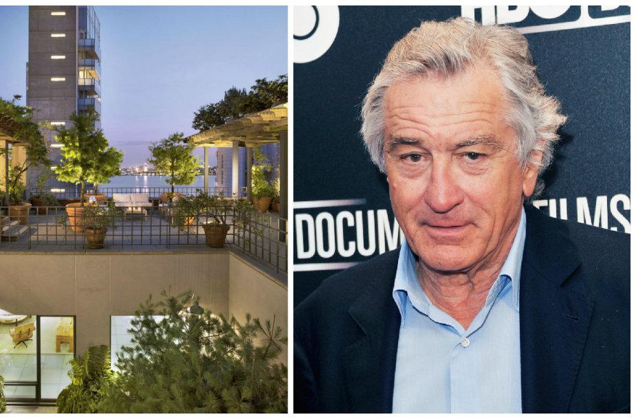 Robertas De Niro už 39 mln. JAV dolerių parduoda prašmatnius apartamentus Niujorke