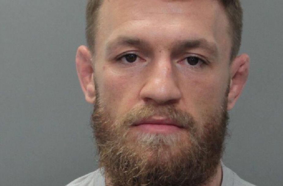 Conoras McGregoras sulaikytas Majamyje.