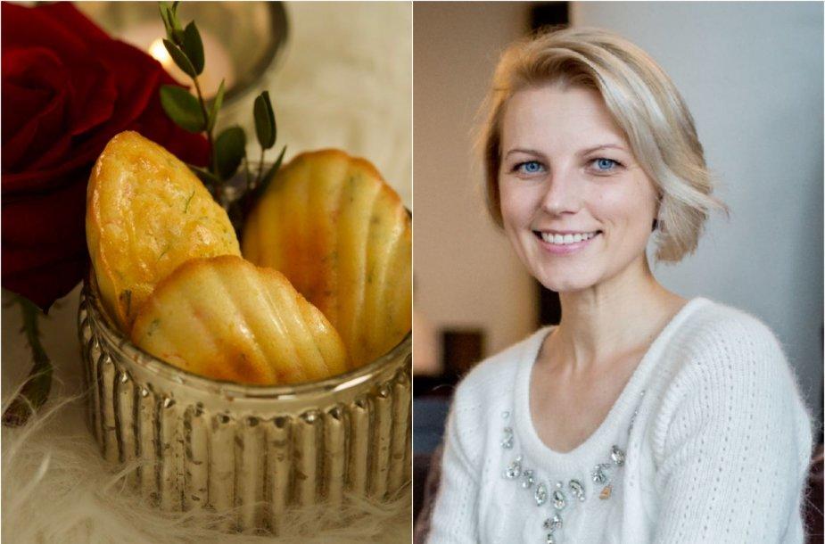 Dangira Šimašiutė ir jos keptos madlenos su lašiša