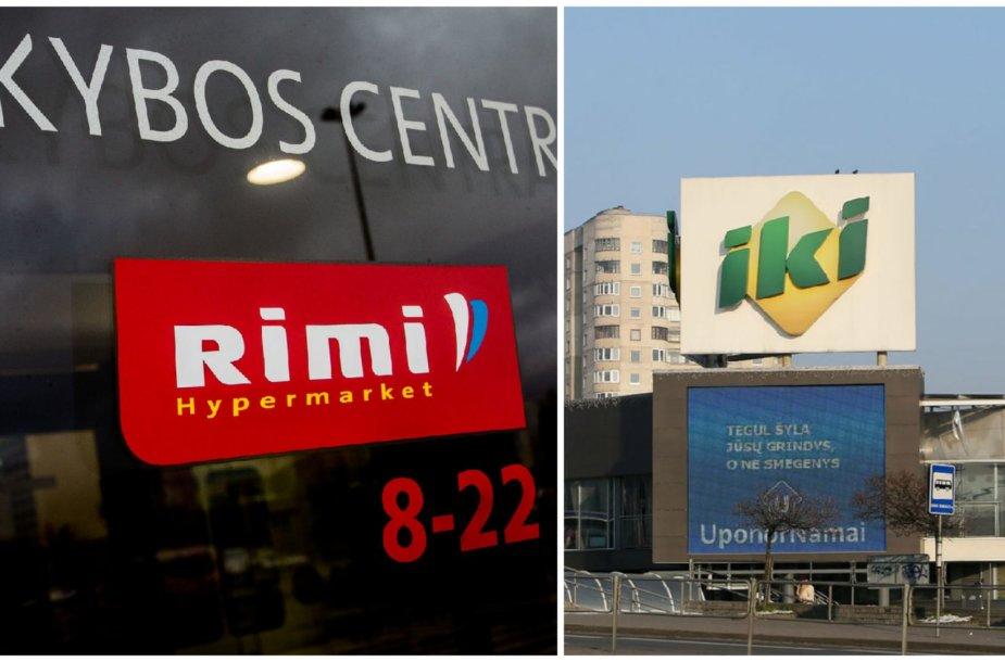 Prekybos centras RIMI ir prekybos centras IKI