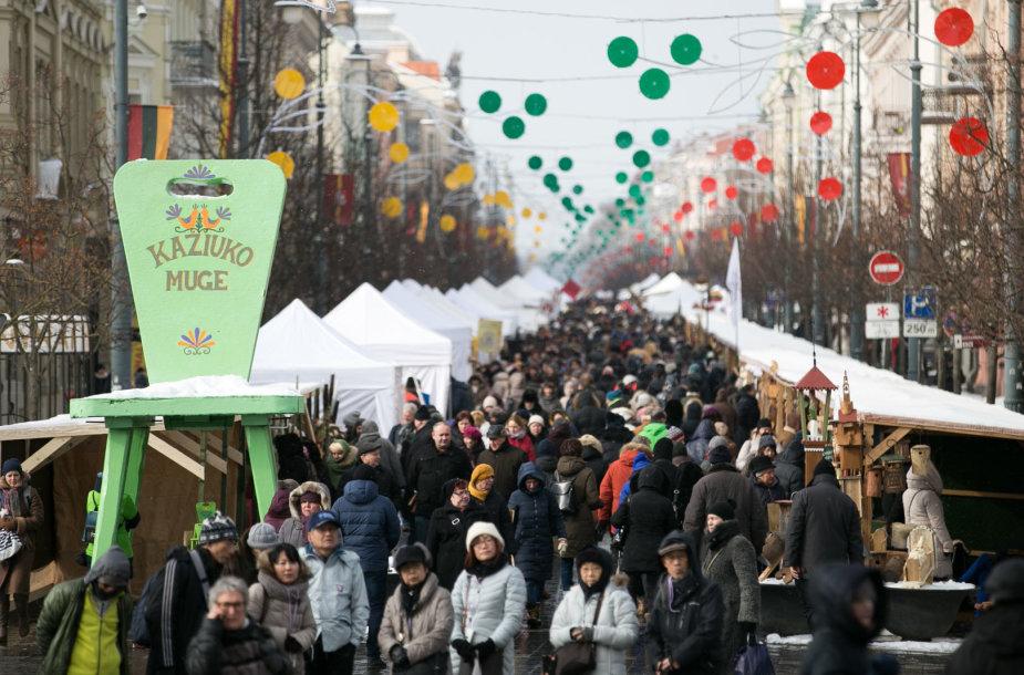 Vilniaus gatves užpildė Kaziuko mugės gėrybės