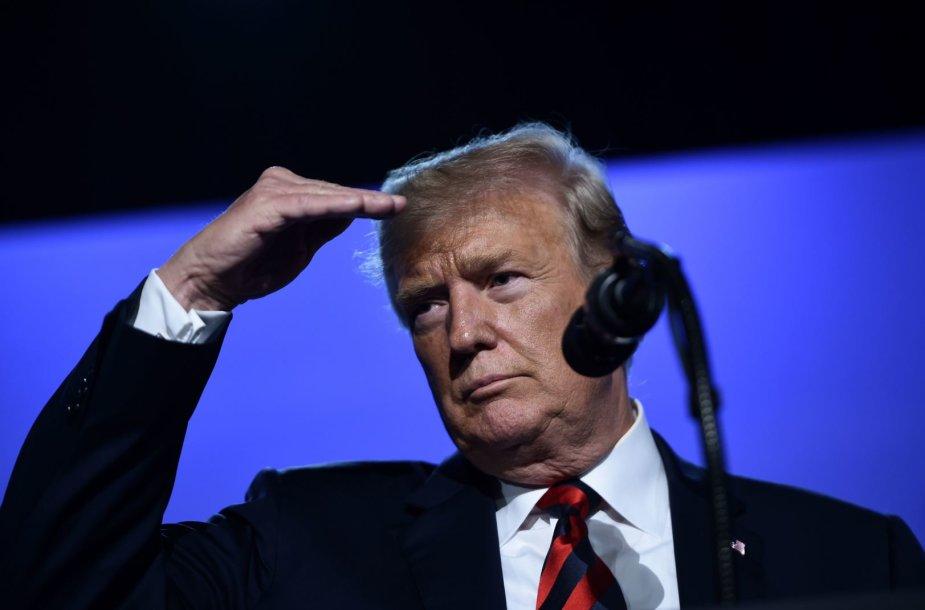 Donaldo Trumpo spaudos konferencija Briuselyje