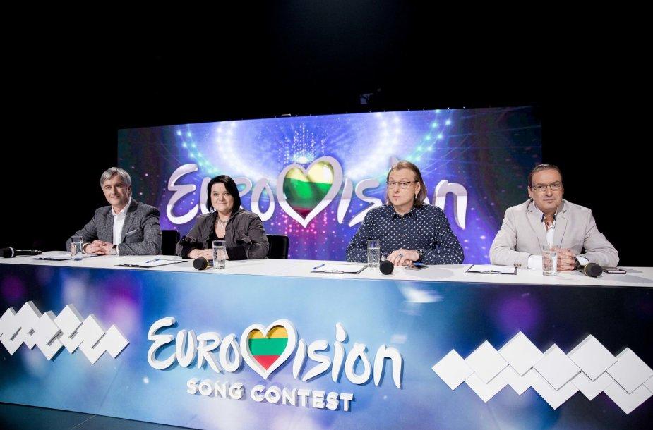 """""""Eurovizijos"""" atrankos pusfinalio akimirkos"""