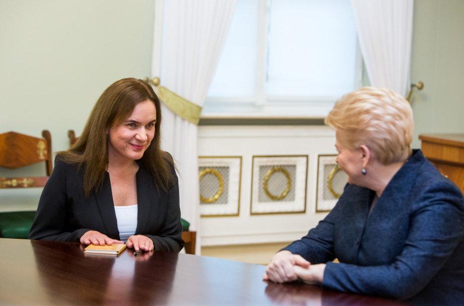 Milda Vainiutė ir Dalia Grybauskaitė