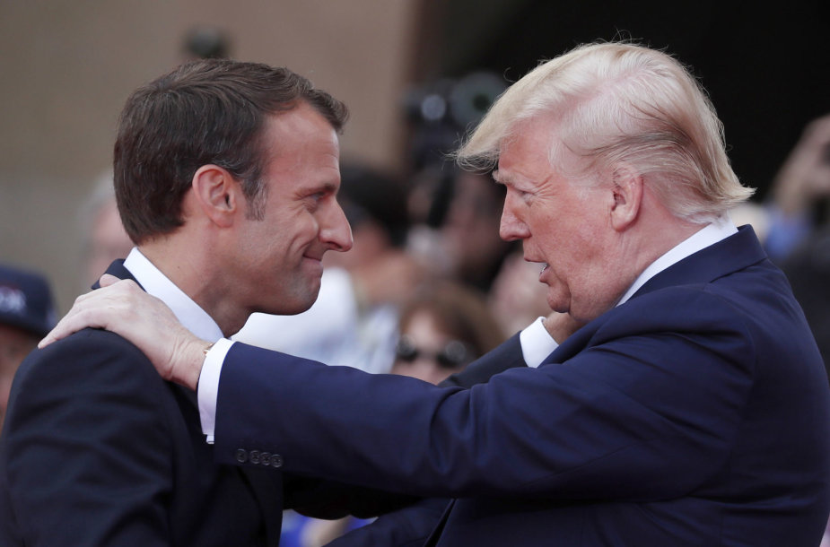 Emmanuelis Macronas ir Donaldas Trumpas