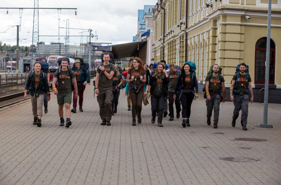 """Į Kazachstaną išlydėti """"Misija Sibiras"""" dalyviai"""
