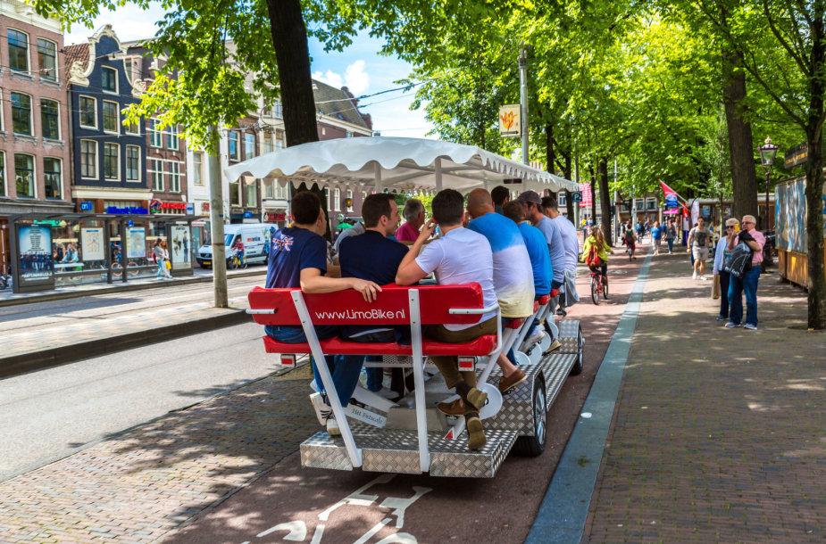 Alaus dviratis Amsterdame