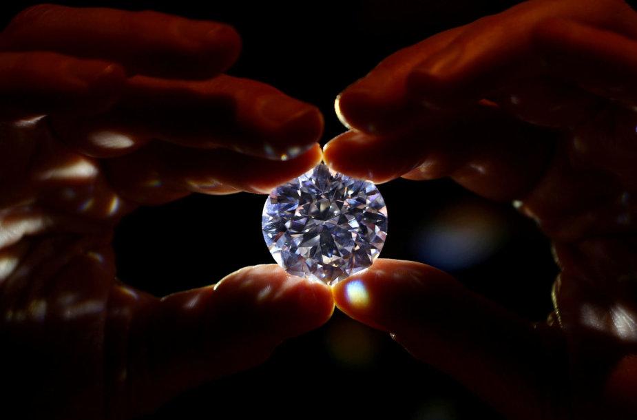Aukcione Londone parduodamas deimantas