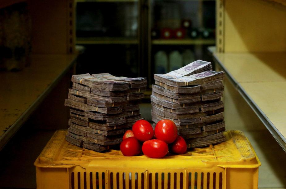 1 kg pomidorų kaina – 5,000,000 bolivarų