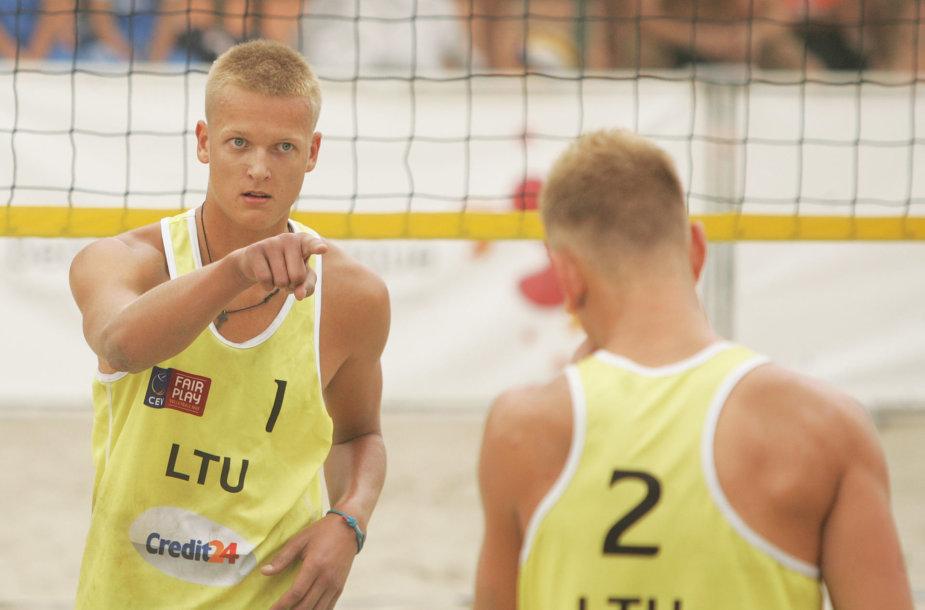 Arnas Rumševičius ir Lukas Každailis.