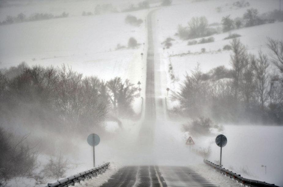 Sniegas Ispanijoje