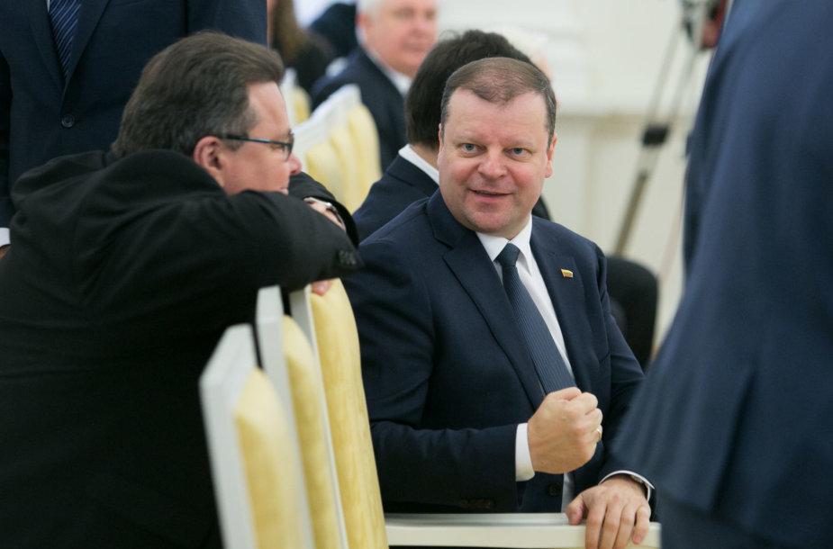 Linas Linkevičius ir Saulius Skvernelis