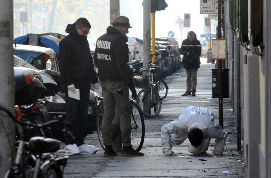 Policija Italijoje, sprogimo vietoje